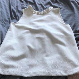 Ann Taylor white texture top
